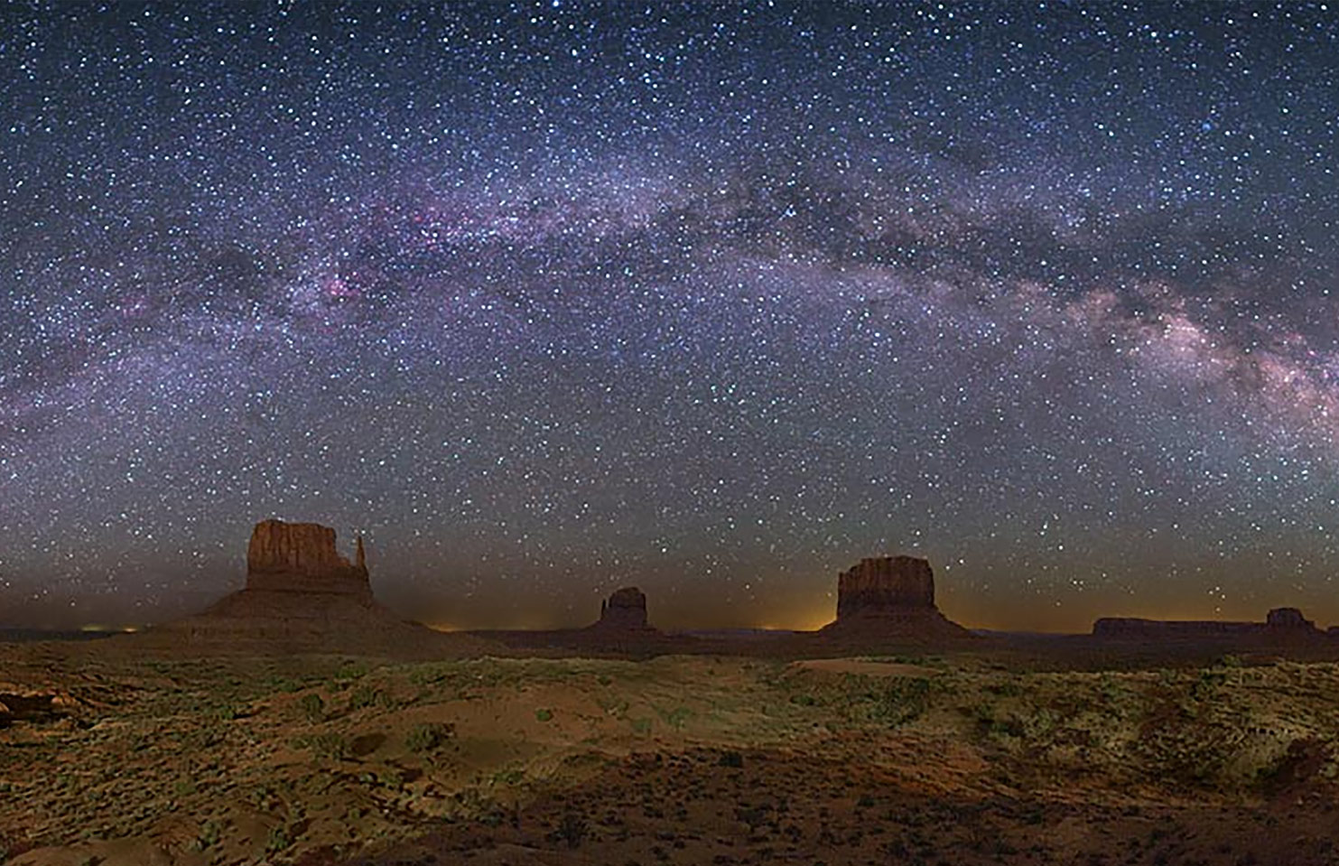 Momument Valley Galactic Arch Panoramo by Wally Pacholka Photographs