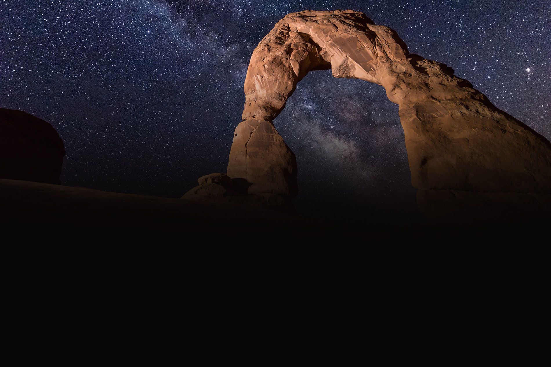 Orion rising over Delicate Arch image